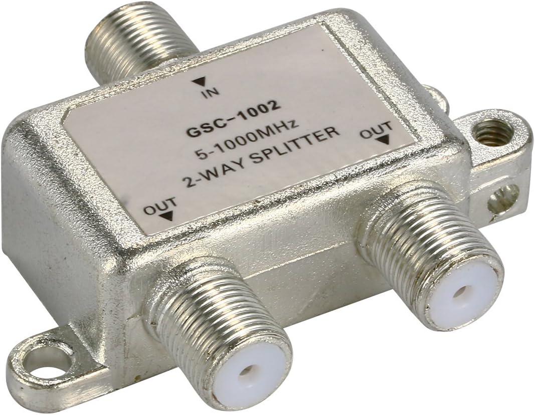 XCSOURCE divisor de antena de divisor de antena de 2 Vías HDTV TV Cable 5 – 1000 mhz tipo F BI126