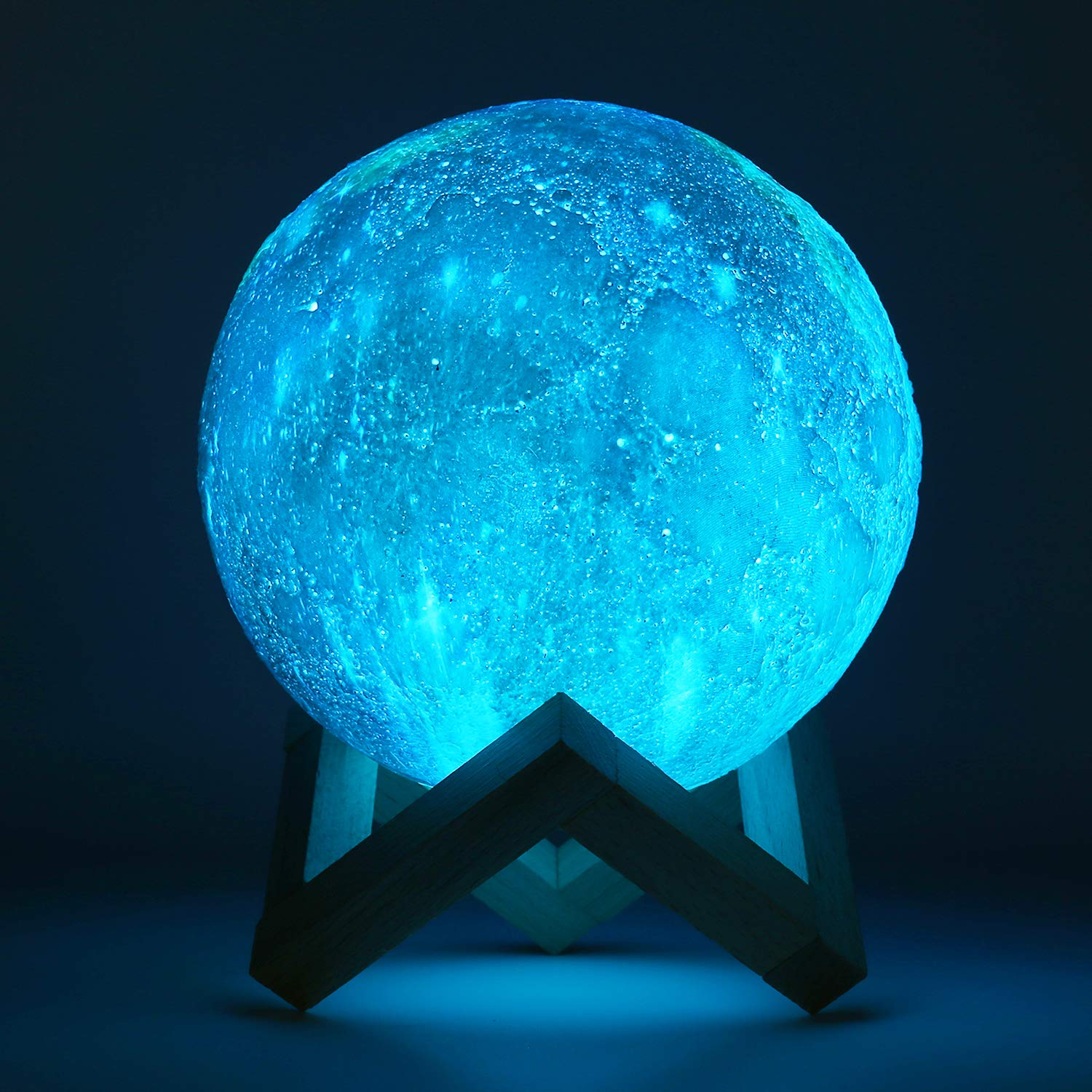 3D Moon Lamp ALED LIGHT RGB 16 Colors Space Moon Light 15cm Diameter Lunar Universe Starry Sky Night Light Lamp with Remote Control USB Charging Mood Light for Bedroom Cafe Bar Decoration Room
