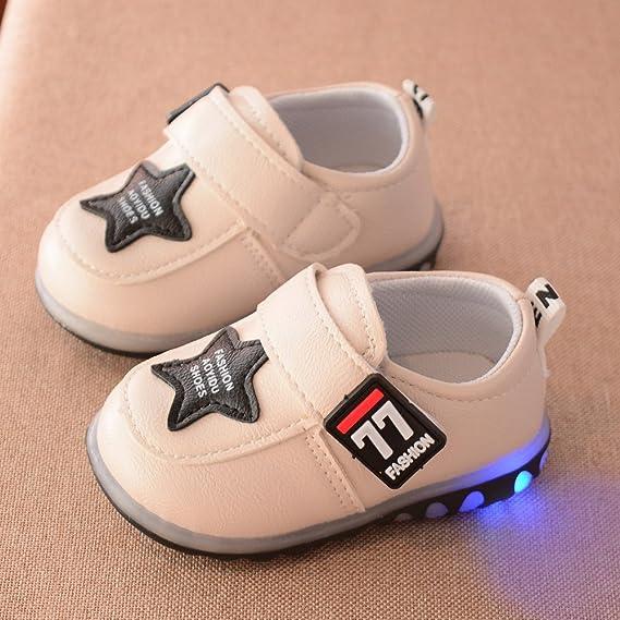 YanHoo Zapatos para niños Zapatillas Deportivas de otoño Luces LED Zapatillas niños Zapatos niños Zapatillas de Deporte de otoño para niños pequeños ...