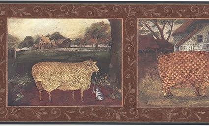 Les Animaux De La Ferme Gg54081b Bordures De Papier Peint