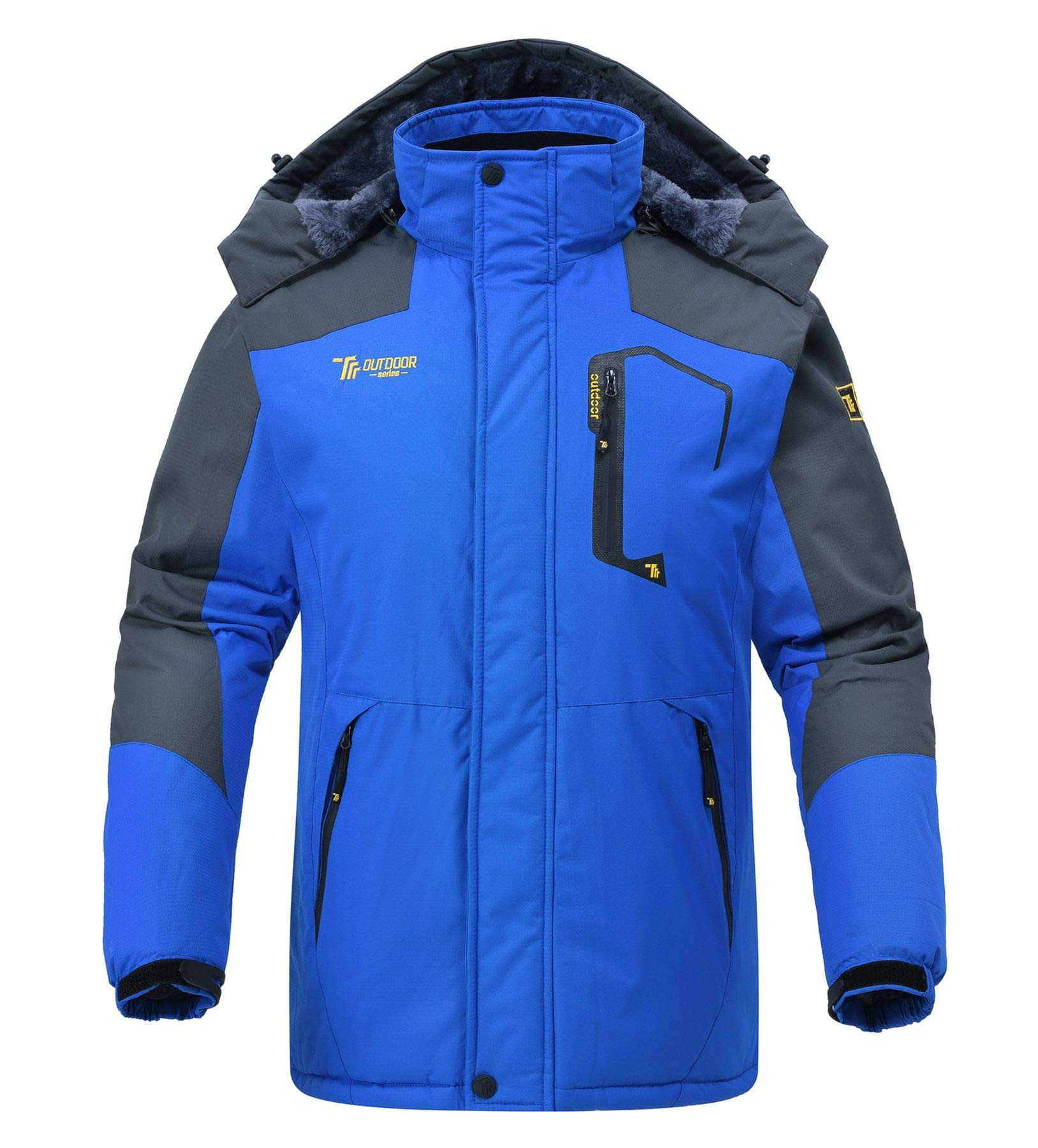 Rdruko Men's Winter Snow Jacket Coat Waterproof Windproof Insulated Ski Snowboard Fleece Jacket(Blue, US M) by Rdruko