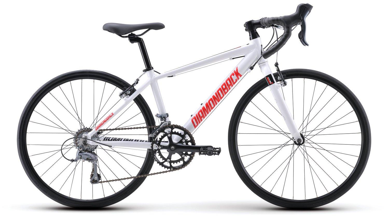 Diamondback Bicycles 2015 Podium 24 Complete Youth Road Bike, 24-Inch wheels/One Size, White