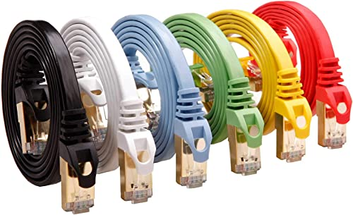 Cat 7 Shielded Cable 6 Pack, CableGeeker Brand
