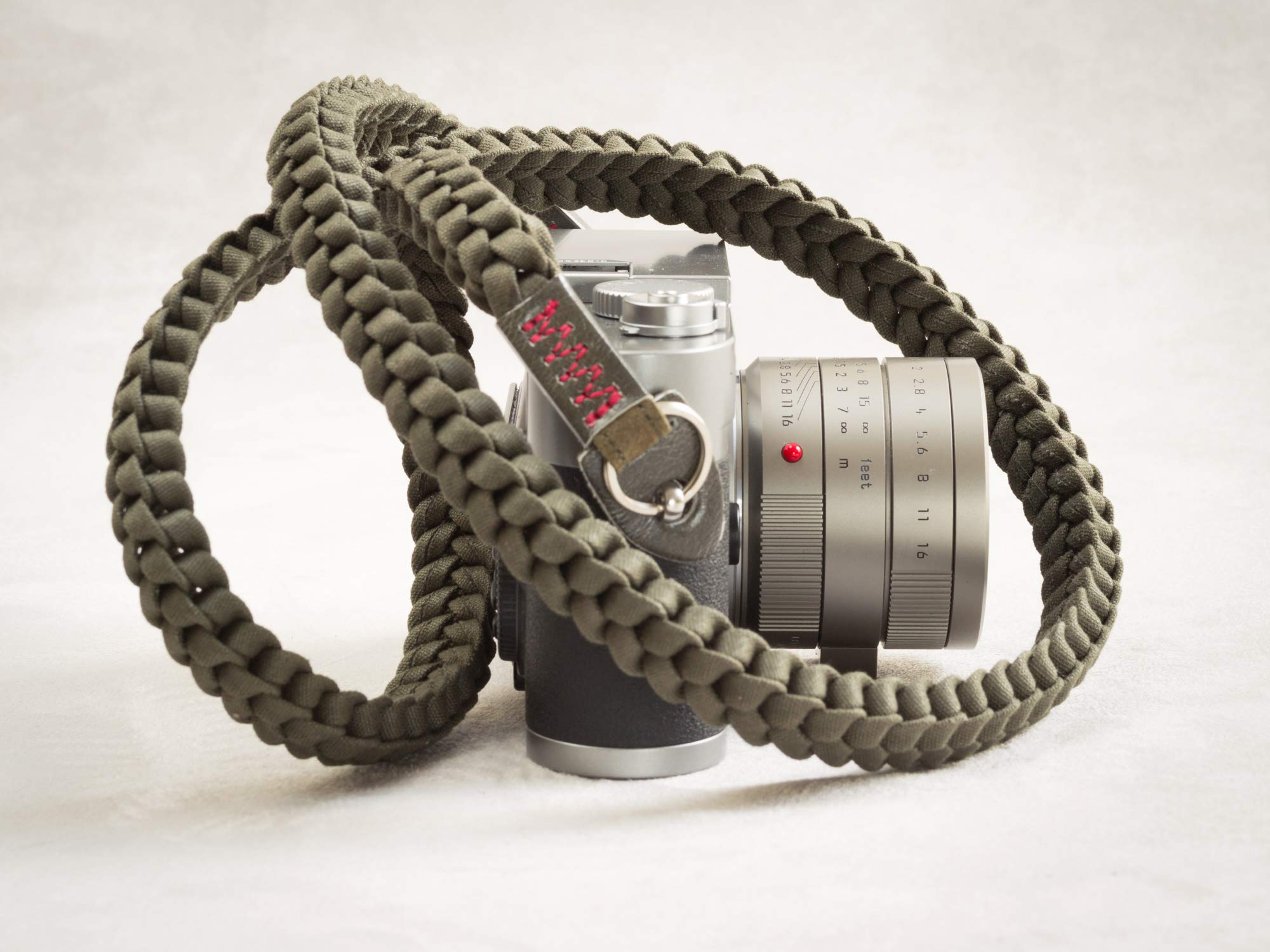 Barton 1972 Designer Braided Muddy Green Military Camera Neck Strap Lint Free Cotton 42'' Long w/Carry Bag Leica Sony Fuji Olympus Nikon by Barton 1972 (Image #3)