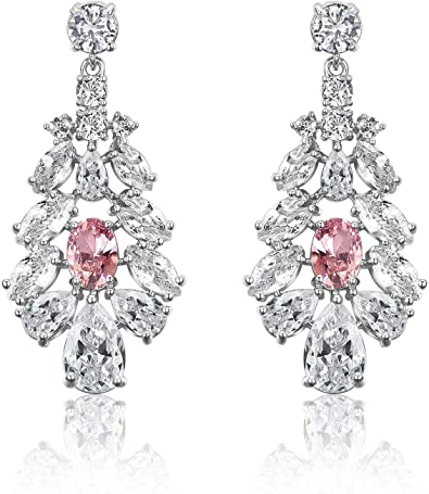 Wedding Earrings Zirconia Earrings Bridesmaid Earrings Gift Rhinestone Earrings Bridal Earrings Wedding Jewelry Bridal Jewelry Ivy