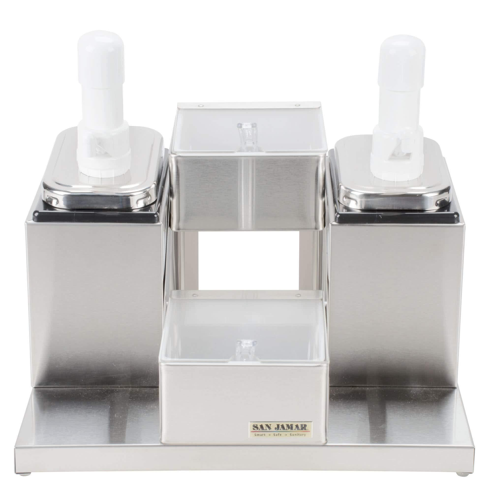 TableTop King P9725 Self Service Condiment Center with 2 Trays and 2 Pumps