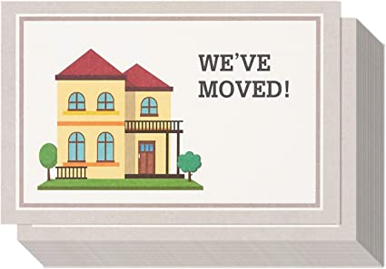 50 Moving Announcement Postcards New Address Change of Address Postcards Weve Moved Postcards Just Moved New Home