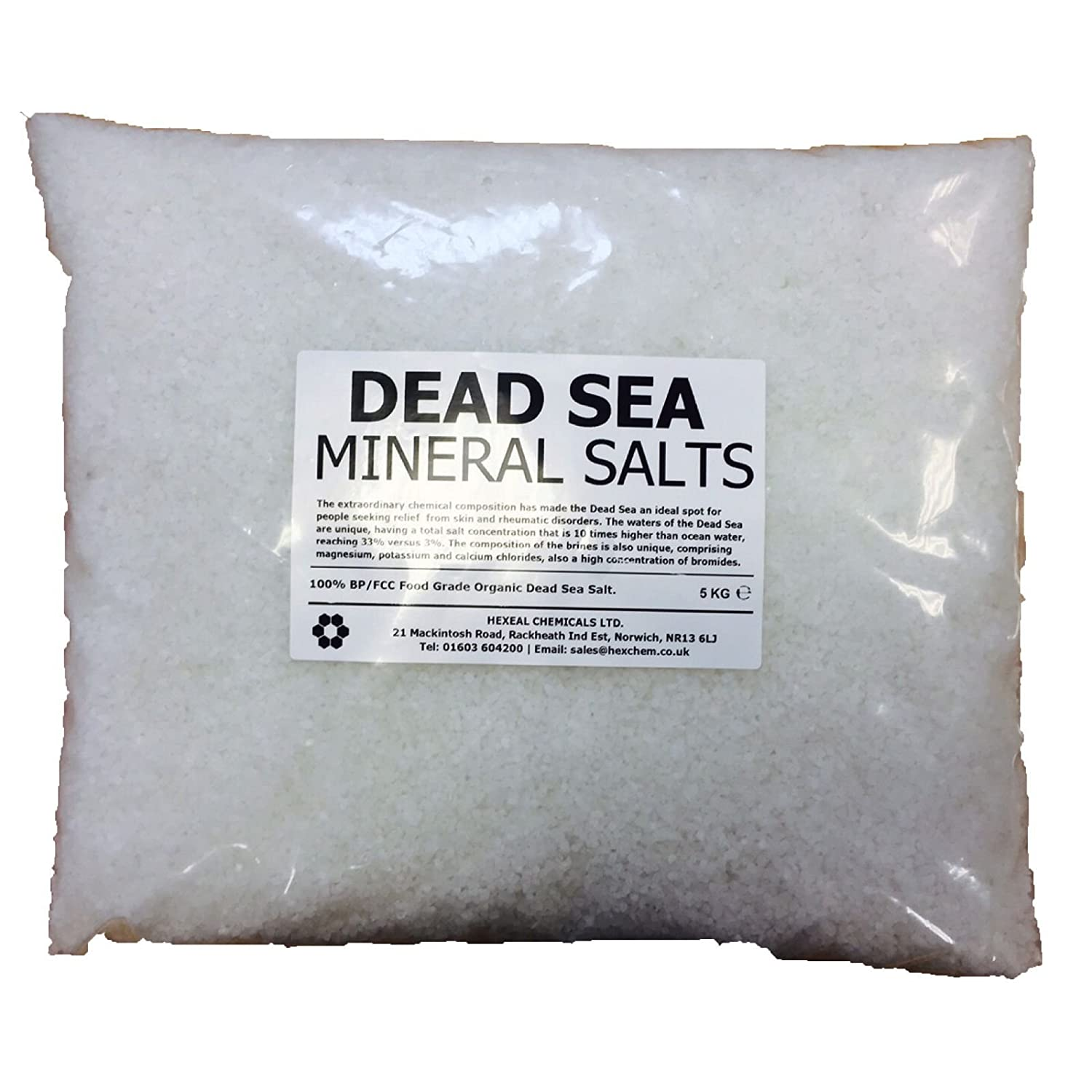 DEAD SEA BATH SALTS | 5KG BAG | 100% Natural Organic | FCC Food Grade Dead Sea Works Ltd.