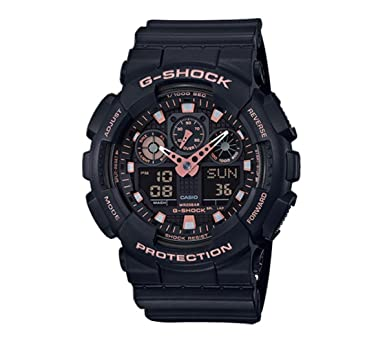 cecc0e172552 Amazon.com  Casio G-Shock Black Rose Gold Analog Digital Watch ...