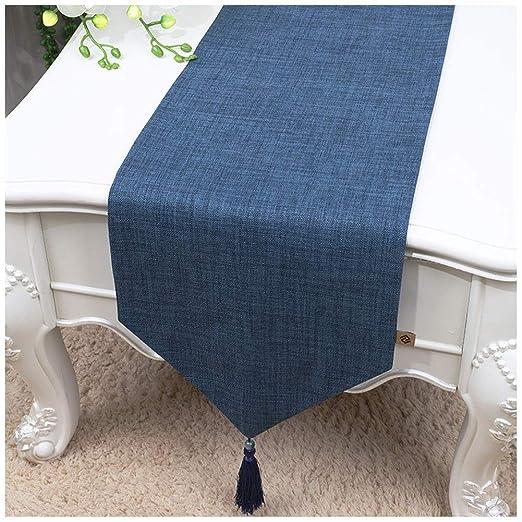 Caminos de mesa Simple Mesa de Corredor Borla decoración algodón ...