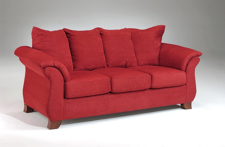 Amazon.com: Roundhill Furniture Sensations Microfiber Pillow Back Sofa And  Loveseat Set, Red: Kitchen U0026 Dining