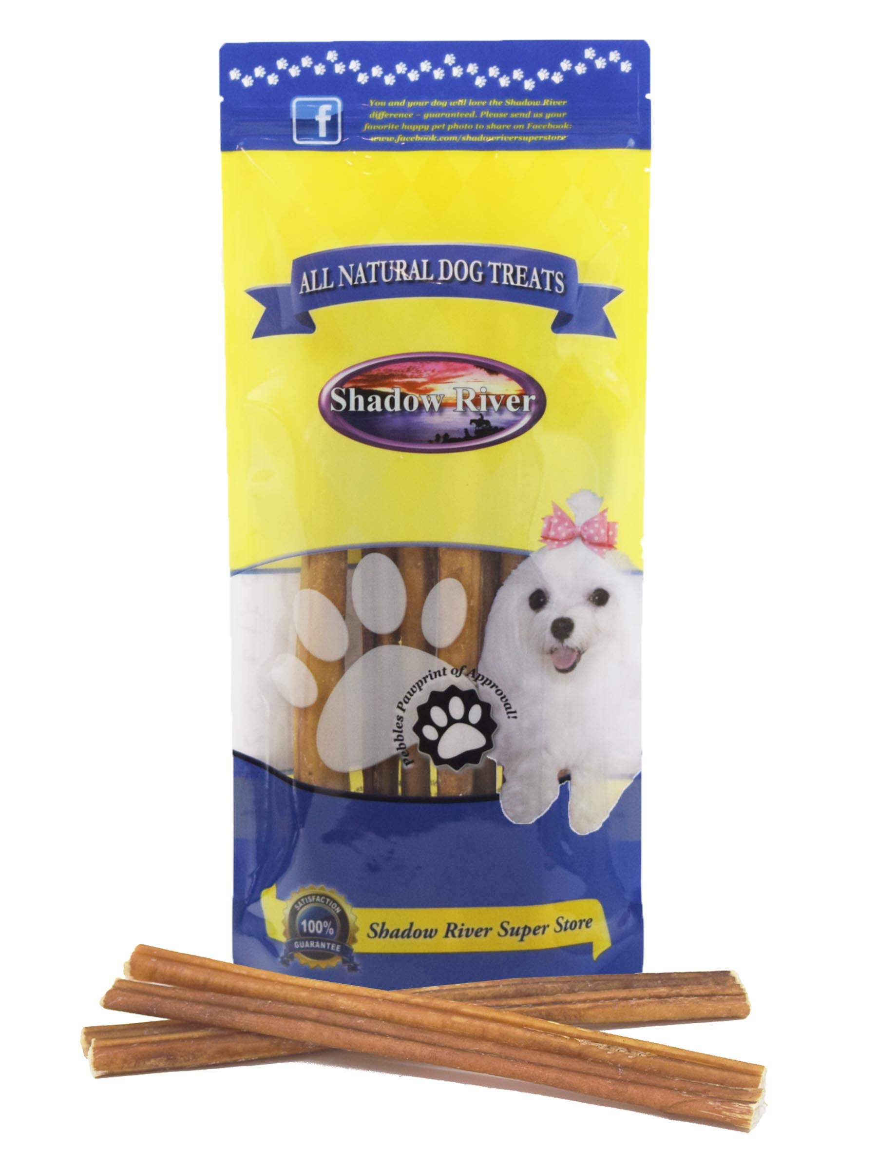 Shadow River 10 Pack 12 Inch Regular All Natural Premium Beef Bully Sticks for Dogs
