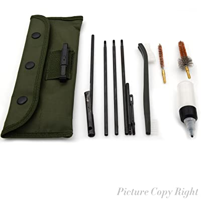 AR15 / M16 /M4 Gun Cleaning Kit Pistol Cleaning Kit Universal Butt Stock Cleaning Kit