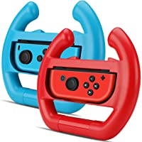 TNP Joy-Con Controller Wheel for Nintendo Switch (Set of 2) - Racing Steering Wheel Controller Accessory Grip Handle Kit…