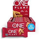 ONE PLANT Protein Bars, Churro, Gluten Free Protein Bars with 12g Protein & Only 1g Sugar, Guilt-Free Snacking for High Protein Diets, 1.59 Oz (12 Pack)
