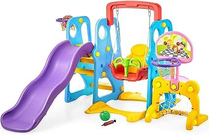 Amazon.com: Kealive Climber and Swing Set infantil 5 en 1 ...