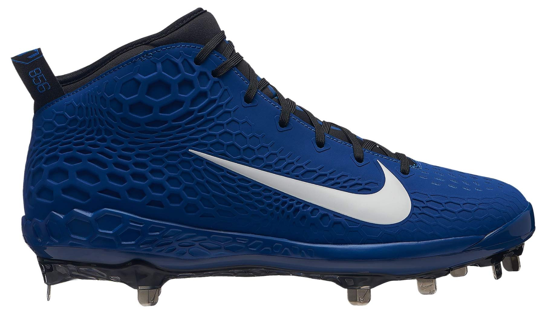 Nike Men's Force Zoom Trout 5 Metal Baseball Cleats (9, Blue/White) by Nike