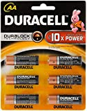Duracell MN1500-LR06 AA Alkaline Battery with Duralock Technology (6 Pieces)