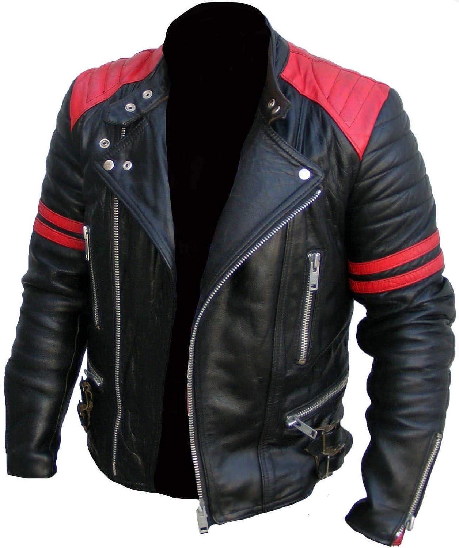 Genuine Black Leather Jacket Men Lambskin Motorcycle Mens Leather Jackets