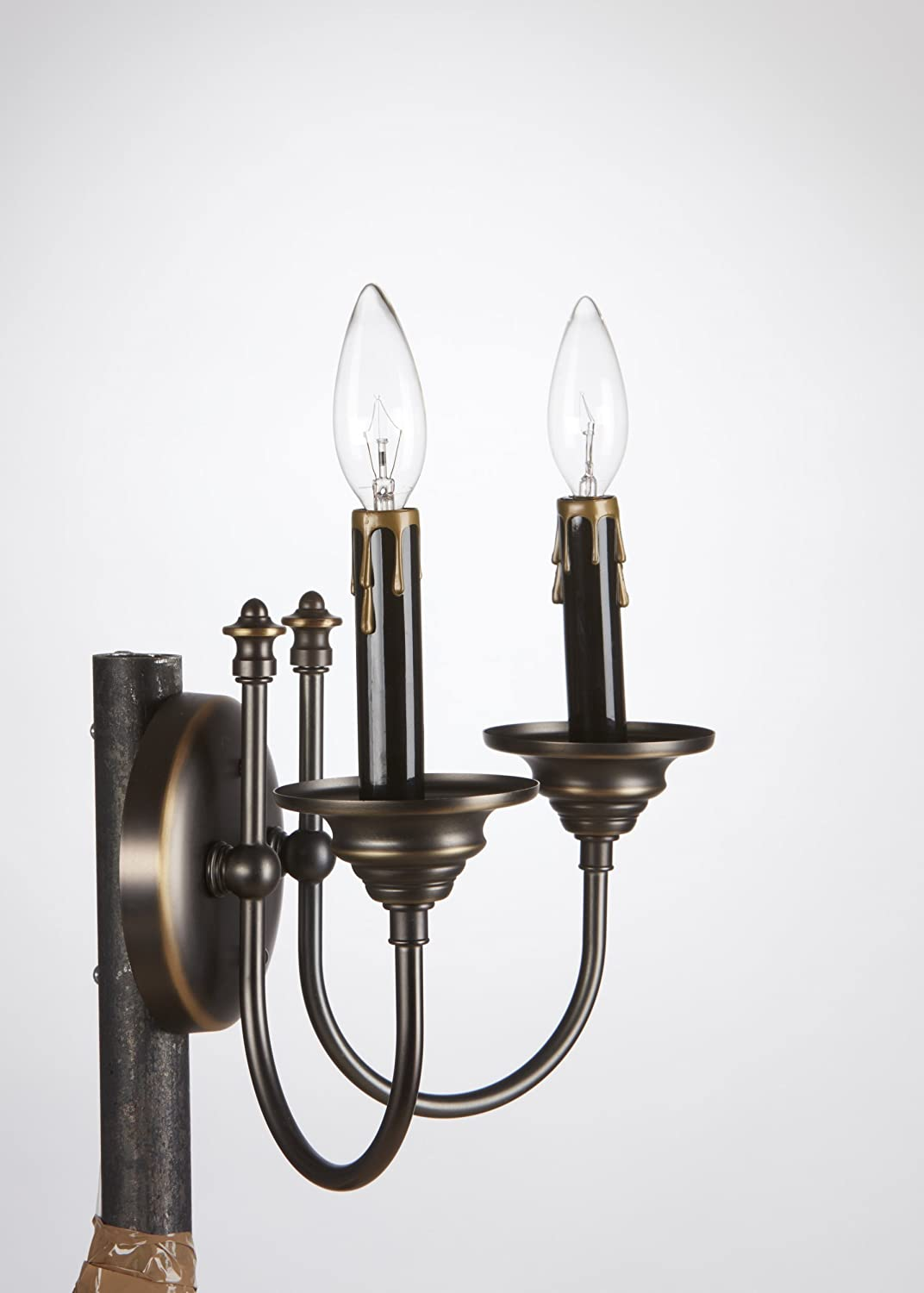 Upgradelights black gold fibre drip candle cover socket covers 3 upgradelights black gold fibre drip candle cover socket covers 34 inch diameter sleeves chandeliers amazon arubaitofo Images