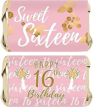 Amazon.com: Sweet Sixteen - Pegatinas para fiesta de 16 ...