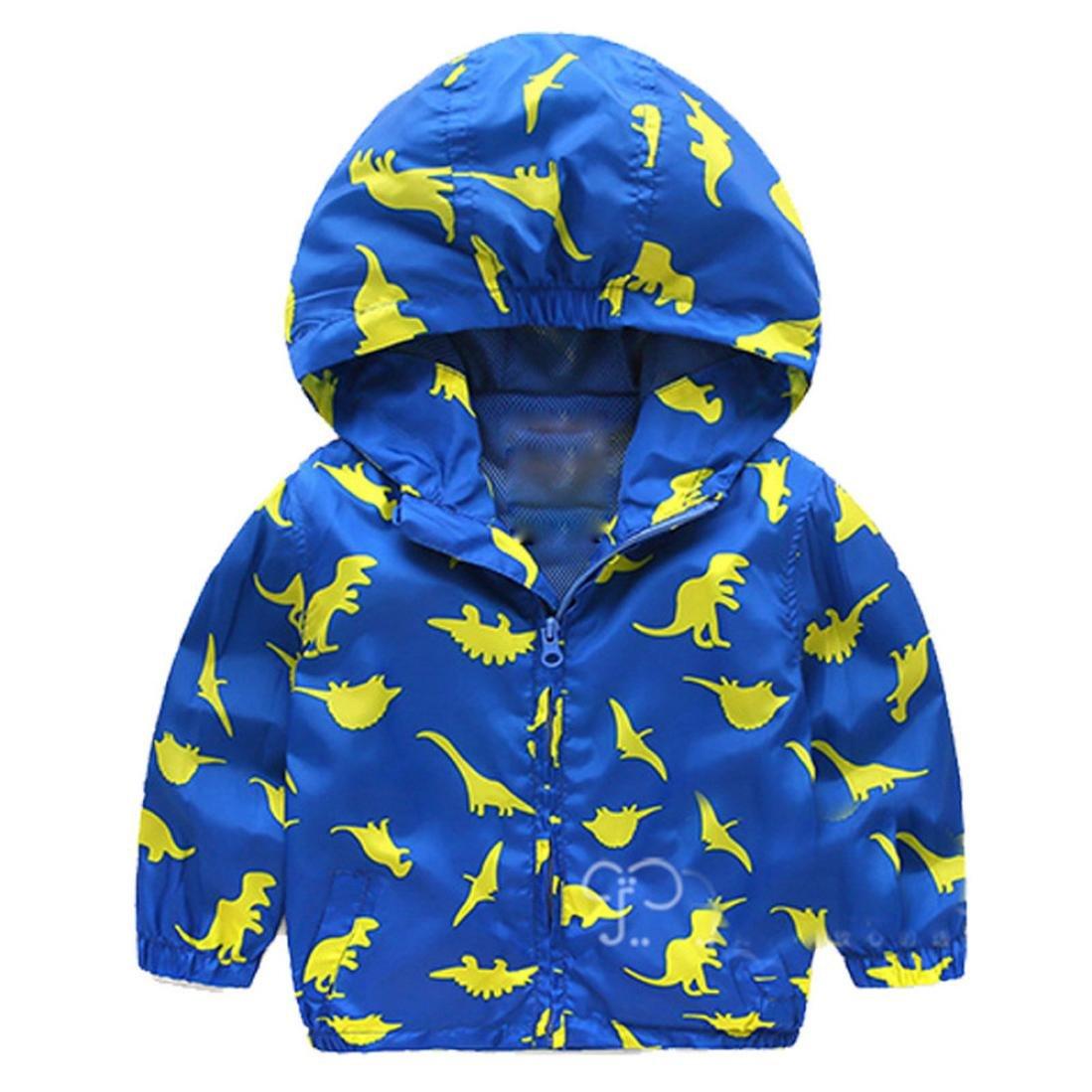 Boys Coats, SHOBDW Baby Dinosaur Geometric Hooded Zip Cloak Jacket Thick Warm Infant Clothes SHOBDW-41