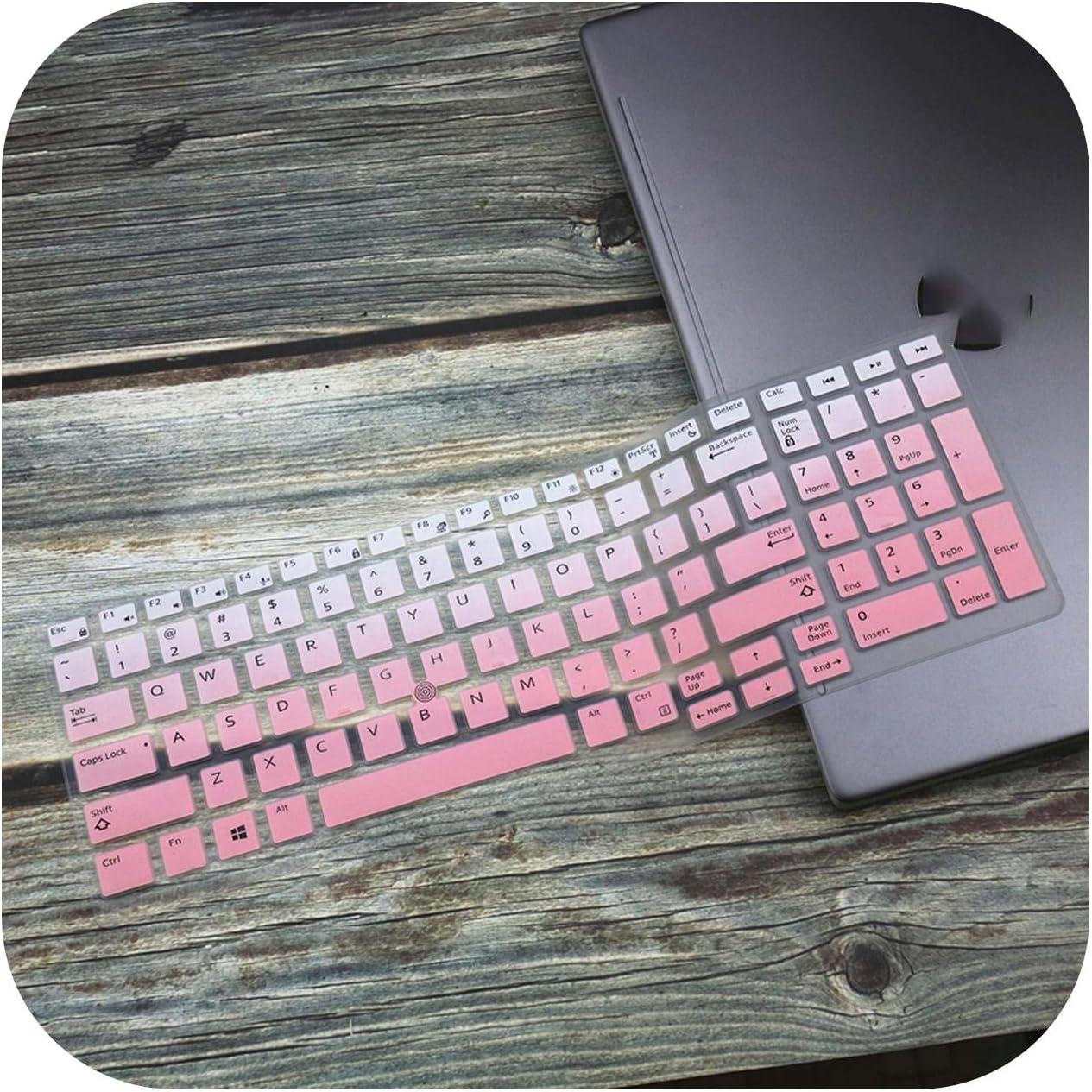 Silicone Laptop Keyboard Cover Skin for Dell Precision 3530 5530 7530 7540 7730 3510 E3530 E5530 E7530 E7730 E3510-Fadepink-