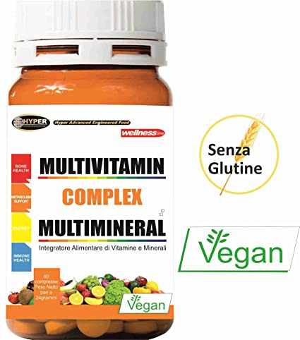 Vitaminas, Minerales | Integrador Multivitamínico y Multimineral | 60 tabletas | Con vitamina A,