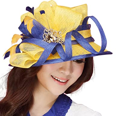 d46349eb Image Unavailable. Image not available for. Colour: June's Young Women Hats  Church Hat Cocktail Sun ...