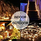 Battery Operated String Lights 150 LED Fairy String Lights Twinkle Lights Battery Operated Waterproof Fairy String Lights with Remote Control Timer 8 Modes 50ft Copper Wire Christmas Decor Warm White