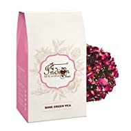 The Indian Chai - Rose Green Herbal Tea 100g | Weight Loss Tea & Slimming Tea, Natural Stress Buster | Nitrogen Filled, Vacuum Sealed for Freshness