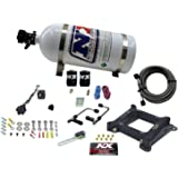 Nitrous Express 60040-10 4150 50-300 HP Gemini Twin Stage 6 Plate System with 10 lbs. Bottle