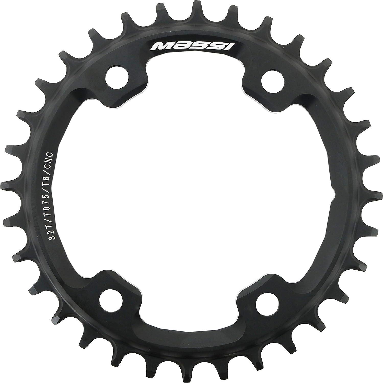 Massi 36T narrow-wide C//Shimano Xt /& Xtr Plates Black One Size