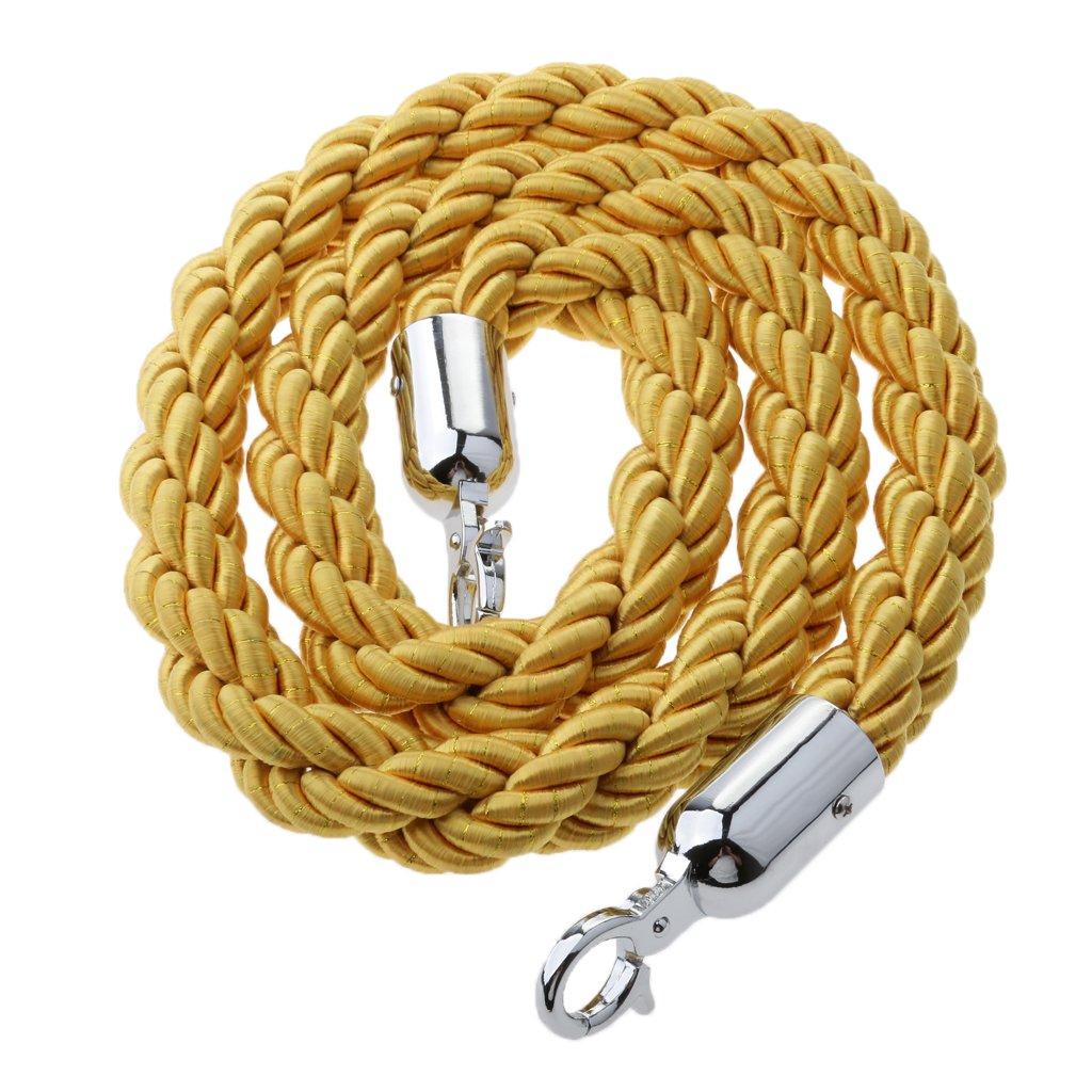 SunniMix Queue Rope Twisted Barrier Velvet Rope Crowd Control Line Barrier Divider #2