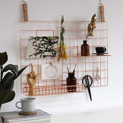Amazon.com: FRIADE - Panel de pared de alambre de metal de ...