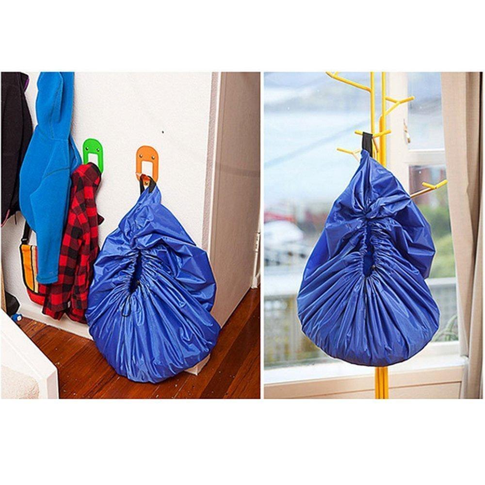150cm Gr/ün BigNoseDeer Kinder Spielmatte Faltbare Baby Spielzeug Aufbewahrungstasche Kinderwolldecke Kinderspielzeug Organizer 60 Zoll