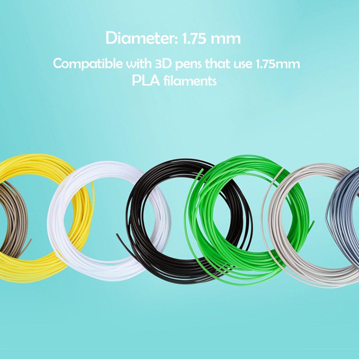 1.75mm PLA Filamento 3D 20 colores Fochea Materiales de Impresión ...