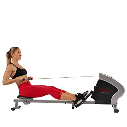 537b76a48d6 Amazon.com   Sunny Health   Fitness Compact Folding Magnetic Rowing Machine  Rower