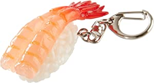 flavorbox(フレーバーボックス) Sushi Keychain (1 Pack: Coldwater Prawn) Realistic, Food replicas/for Bags, Keys or Pouches/A Gift for People who Like Sushi and Novelty/Japanese Culture/Japan-Made/ 20 Kinds