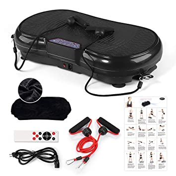 ed3dd3ee4a0f3 GENKI Slim Body Shape Vibration Power Plate Oscillating Platform Fitness  Machine Black