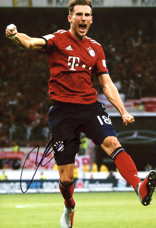 size 40 9142d c86d3 Amazon.com: SOCCER Leon Goretzka FC BAVARIA MUNICH autograph ...