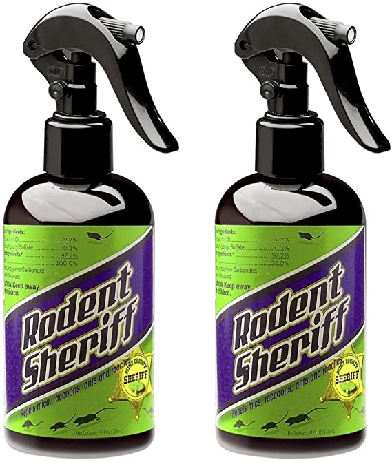 rodent Sheriff Pest Control - Ultra-Pure Peppermint Spray - Repels Mice, Raccoons, Ants, and More - Made in USA