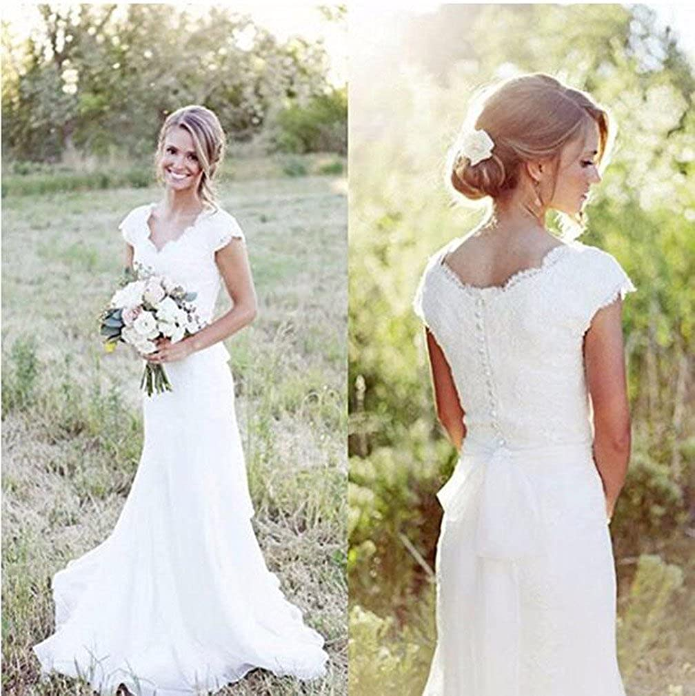 SIQINZHENG Women\'s Lace Wedding Dresses Long White Dress Mermaid Bridal Gowns 51CpjCpBHnLUL1010_