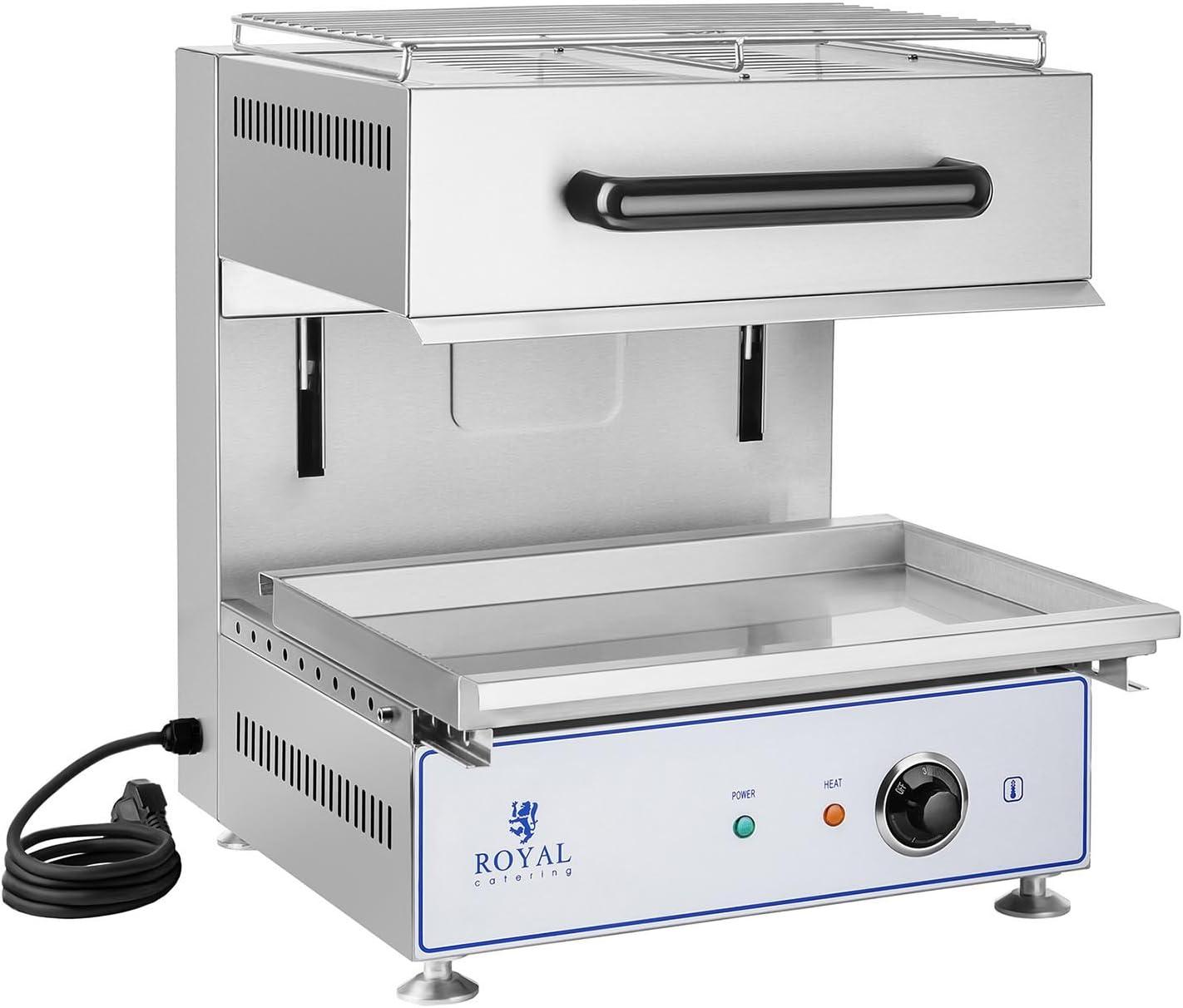 Royal Catering RCLS-19 Lift Salamander Küche Grillofen Überbackgerät  Backgrill - 19 Watt - Höhenverstellbar