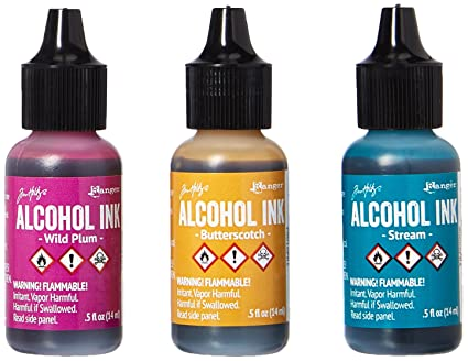 Amazoncom Ranger AAI Adirondack Alcohol Ink Ounce - Coloring resin with alcohol ink