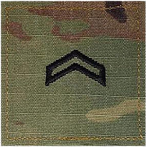 Multicam Rank w// Hook Fastener Backing US Army Enlisted//Officer