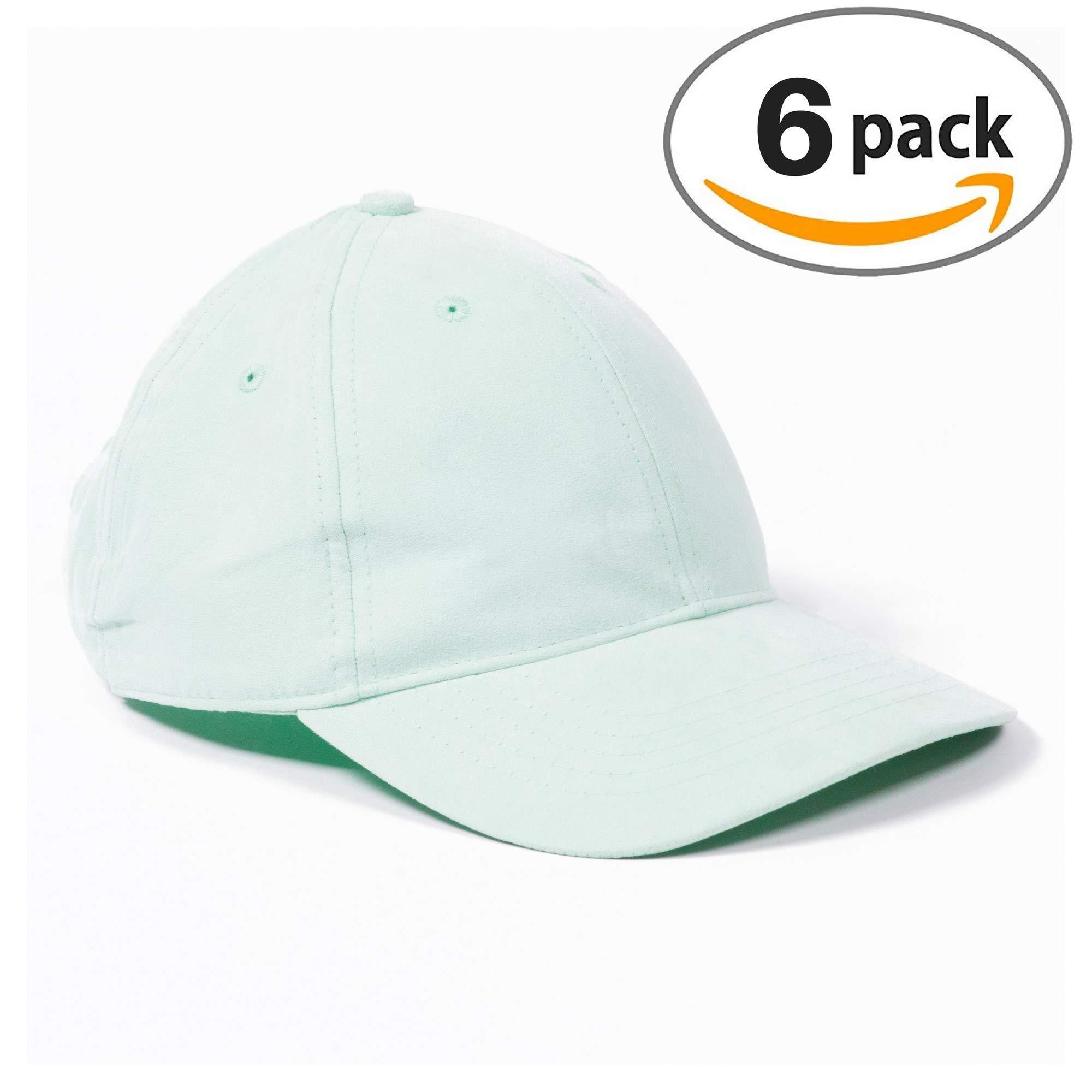 Infinity Headwear Ladies Soft Sea Glass Suede Cap 6 Pack
