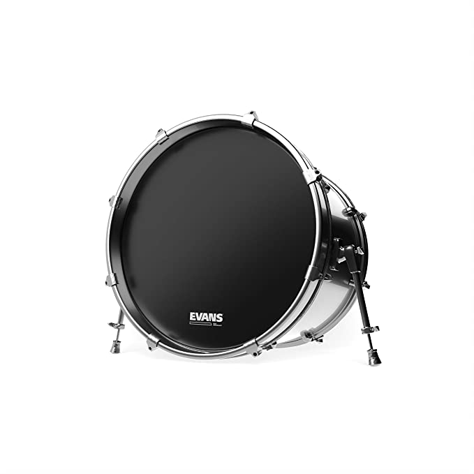 16 Inch No Port Evans EQ3 Resonant Black Tom Hoop Drum Head