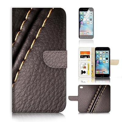 (para iphone 8plus) funda tipo cartera para carcasa de silicona y protector de pantalla Paquete. a20474piel patrón