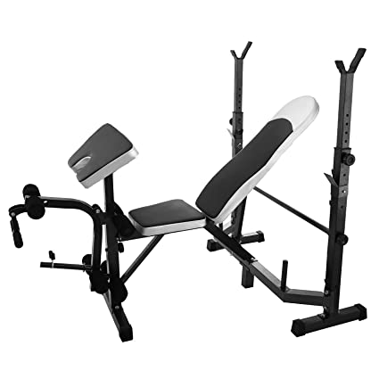 Cool Popsport 660Lbs Weight Lifting Bench Multi Station Weight Bench Press Leg Curl Home Gym Weights Equipment Adjustable Workout Bench For Home Fitness Inzonedesignstudio Interior Chair Design Inzonedesignstudiocom